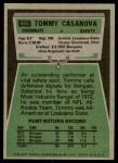 1975 Topps #465  Tommy Casanova  Back Thumbnail