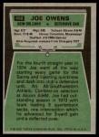 1975 Topps #468  Joe Owens  Back Thumbnail