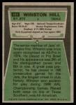 1975 Topps #485  Winston Hill  Back Thumbnail