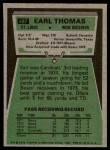 1975 Topps #487  Earl Thomas  Back Thumbnail