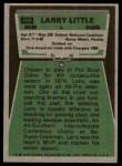 1975 Topps #499  Larry Little  Back Thumbnail