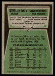 1975 Topps #432  Jerry Simmons  Back Thumbnail