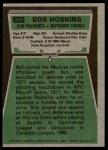 1975 Topps #442  Bob Hoskins  Back Thumbnail