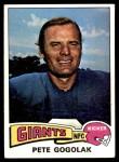 1975 Topps #449  Pete Gogolak  Front Thumbnail