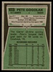 1975 Topps #449  Pete Gogolak  Back Thumbnail
