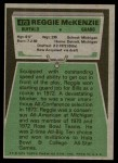 1975 Topps #473  Reggie McKenzie  Back Thumbnail