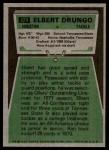 1975 Topps #474  Elbert Drungo  Back Thumbnail
