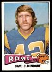 1975 Topps #482  Dave Elmendorf  Front Thumbnail