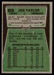 1975 Topps #492  Joe Taylor  Back Thumbnail