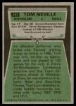 1975 Topps #493  Tom Neville  Back Thumbnail