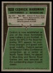 1975 Topps #511  Cedrick Hardman  Back Thumbnail