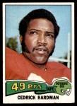 1975 Topps #511  Cedrick Hardman  Front Thumbnail