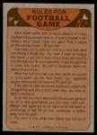 1974 Topps  Checklist   Cardinals Back Thumbnail