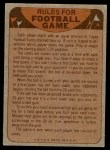 1974 Topps  Checklist   Eagles Back Thumbnail