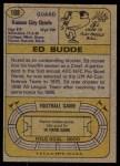 1974 Topps #108  Ed Budde  Back Thumbnail