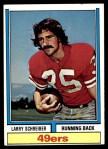 1974 Topps #517  Larry Schreiber  Front Thumbnail