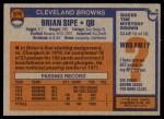 1976 Topps #516  Brian Sipe   Back Thumbnail