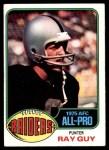 1976 Topps #50  Ray Guy  Front Thumbnail