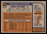 1976 Topps #422  Chris Fletcher  Back Thumbnail