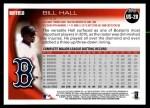 2010 Topps Update #28  Bill Hall  Back Thumbnail