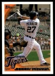 2010 Topps Update #199  Jhonny Peralta  Front Thumbnail