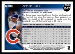 2010 Topps Update #27  Koyie Hill  Back Thumbnail