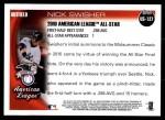 2010 Topps Update #127  Nick Swisher  Back Thumbnail