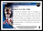 2010 Topps Update #214  Jason Heyward  Back Thumbnail