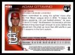 2010 Topps Update #6  Adam Ottavino  Back Thumbnail