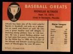 1961 Fleer #3  Nick Altrock  Back Thumbnail