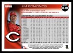 2010 Topps Update #178  Jim Edmonds  Back Thumbnail