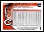 2010 Topps Update #106  Orlando Cabrera  Back Thumbnail