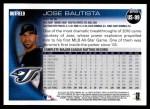 2010 Topps Update #99  Jose Bautista  Back Thumbnail