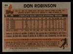 1983 Topps #44  Don Robinson  Back Thumbnail