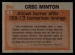 1983 Topps #3   -  Greg Minton Record Breaker Back Thumbnail