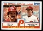 1983 Topps #229   -  Bo Diaz / Steve Carlton Phillies Leaders Front Thumbnail
