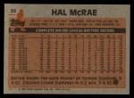 1983 Topps #25  Hal McRae  Back Thumbnail