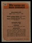 1983 Topps #241   -  Goose Gossage Super Veteran Back Thumbnail