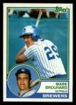 1983 Topps #167  Mark Brouhard  Front Thumbnail