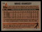 1983 Topps #128  Mike Ramsey  Back Thumbnail
