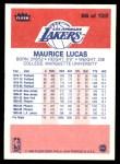 1986 Fleer #66  Maurice Lucas  Back Thumbnail