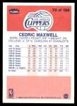 1986 Fleer #70  Cedric Maxwell  Back Thumbnail