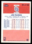 1986 Fleer #85  Jim Paxson  Back Thumbnail