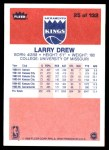 1986 Fleer #25  Larry Drew  Back Thumbnail