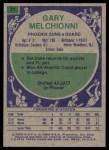 1975 Topps #21  Gary Melchionni  Back Thumbnail