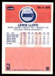 1986 Fleer #65  Lewis Lloyd  Back Thumbnail