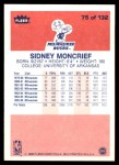 1986 Fleer #75  Sidney Moncrief  Back Thumbnail