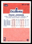 1986 Fleer #52  Frank Johnson  Back Thumbnail