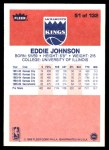 1986 Fleer #51  Eddie Johnson  Back Thumbnail