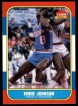 1986 Fleer #51  Eddie Johnson  Front Thumbnail